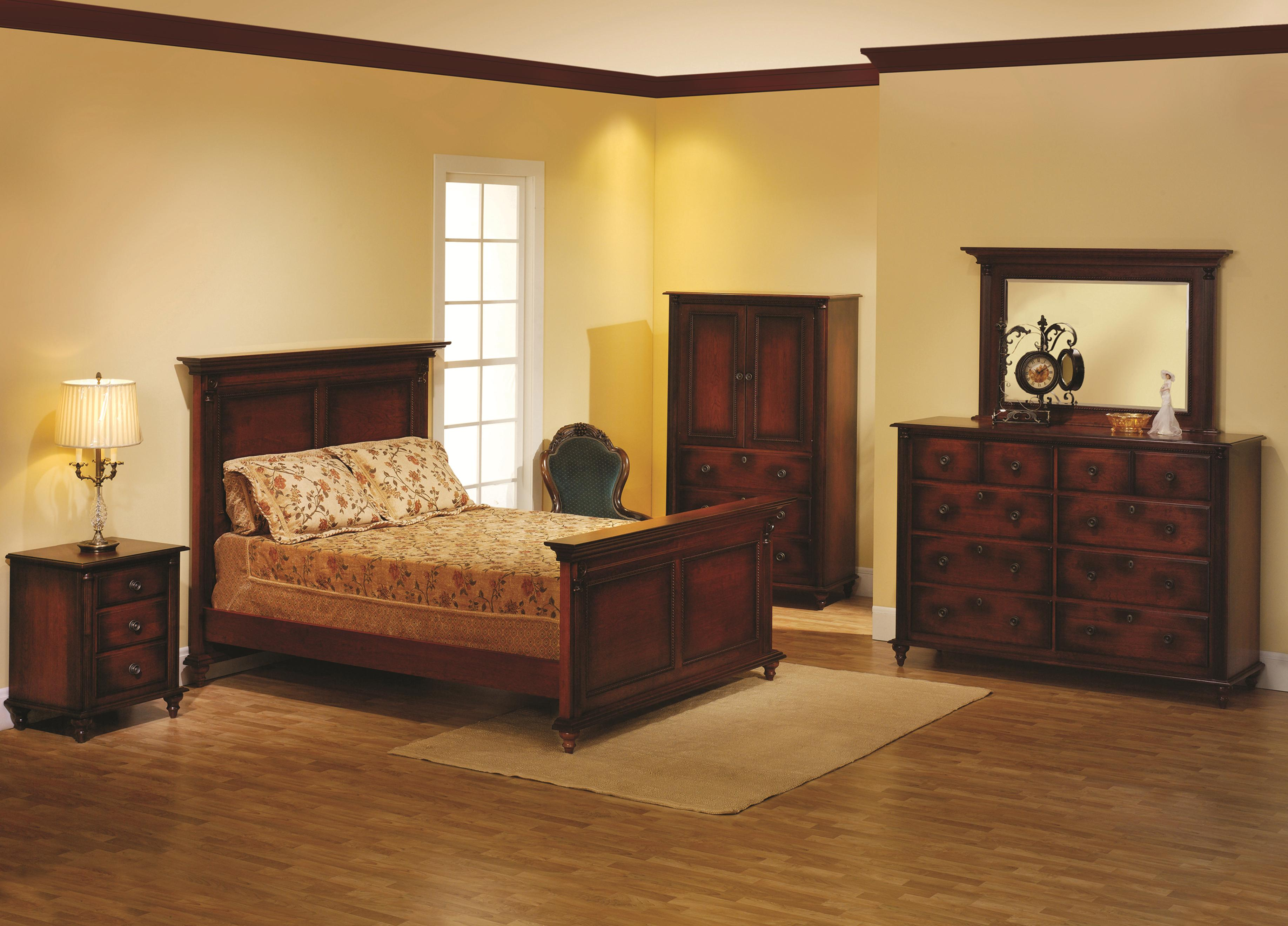 Fur Elise King Panel Bed Bedroom Group by Millcraft at Saugerties Furniture Mart