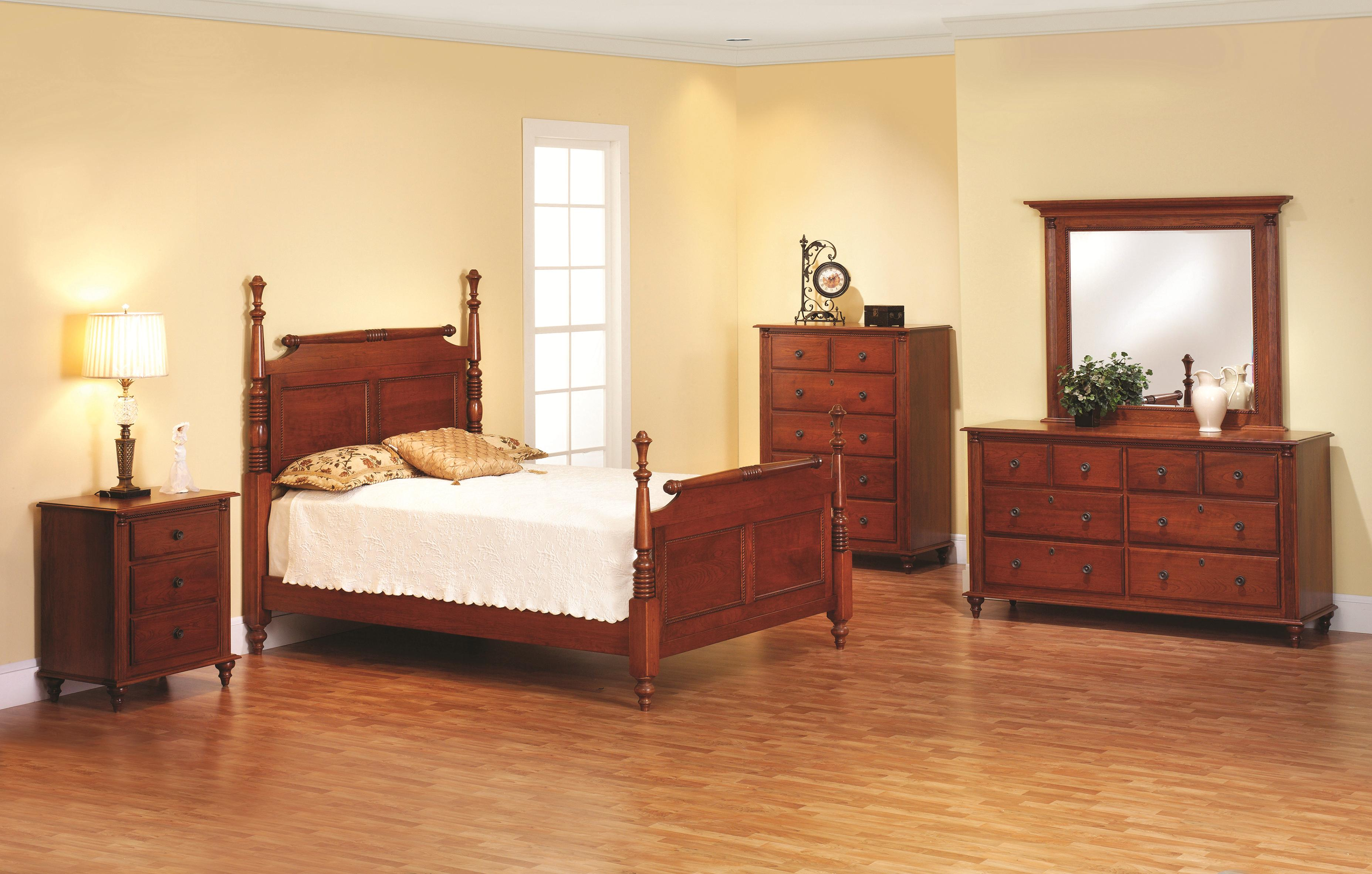 Fur Elise Queen Rolling Pin Bed Bedroom Group by Millcraft at Saugerties Furniture Mart