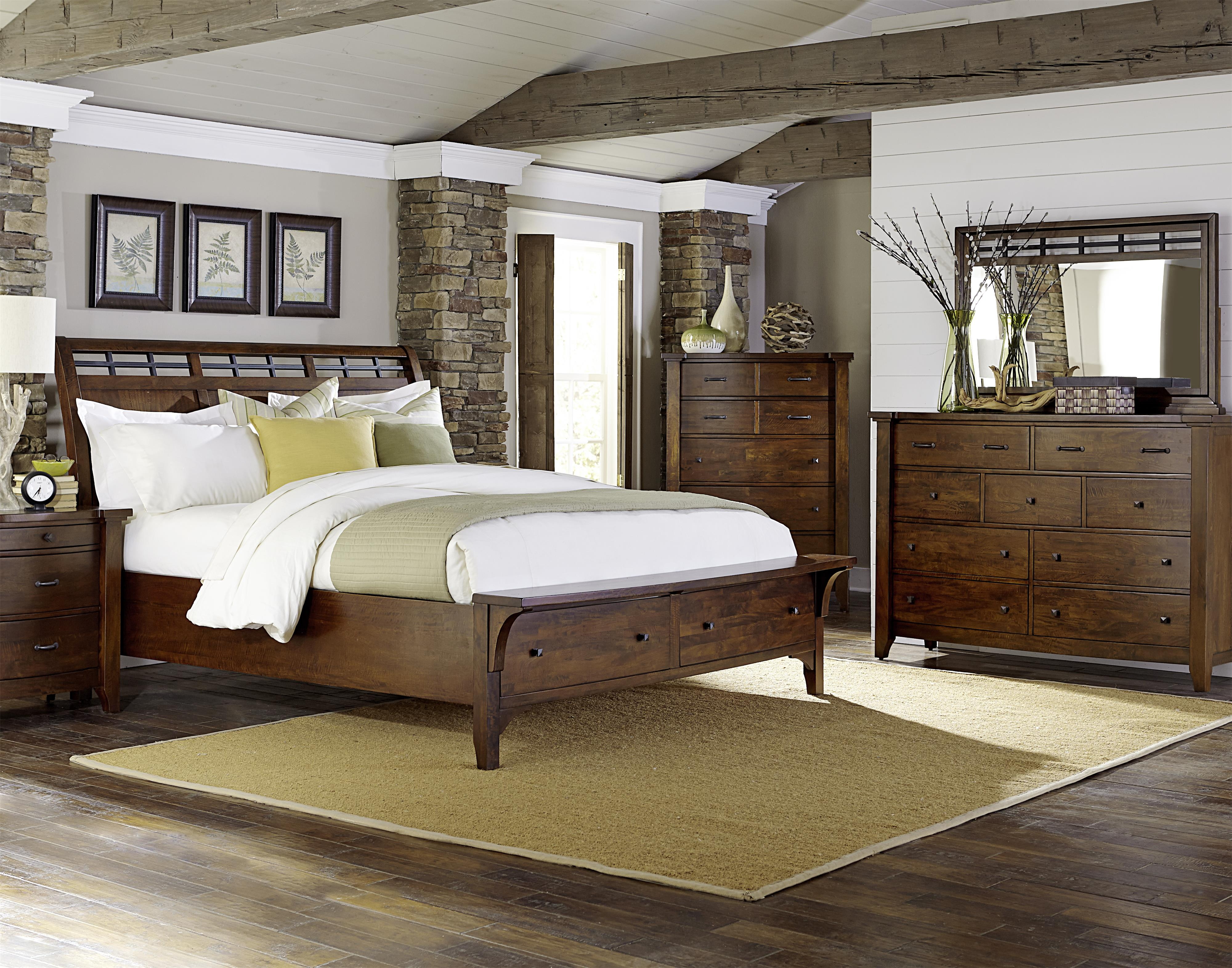 Whistler Retreat King Bedroom Group by Warehouse M at Pilgrim Furniture City