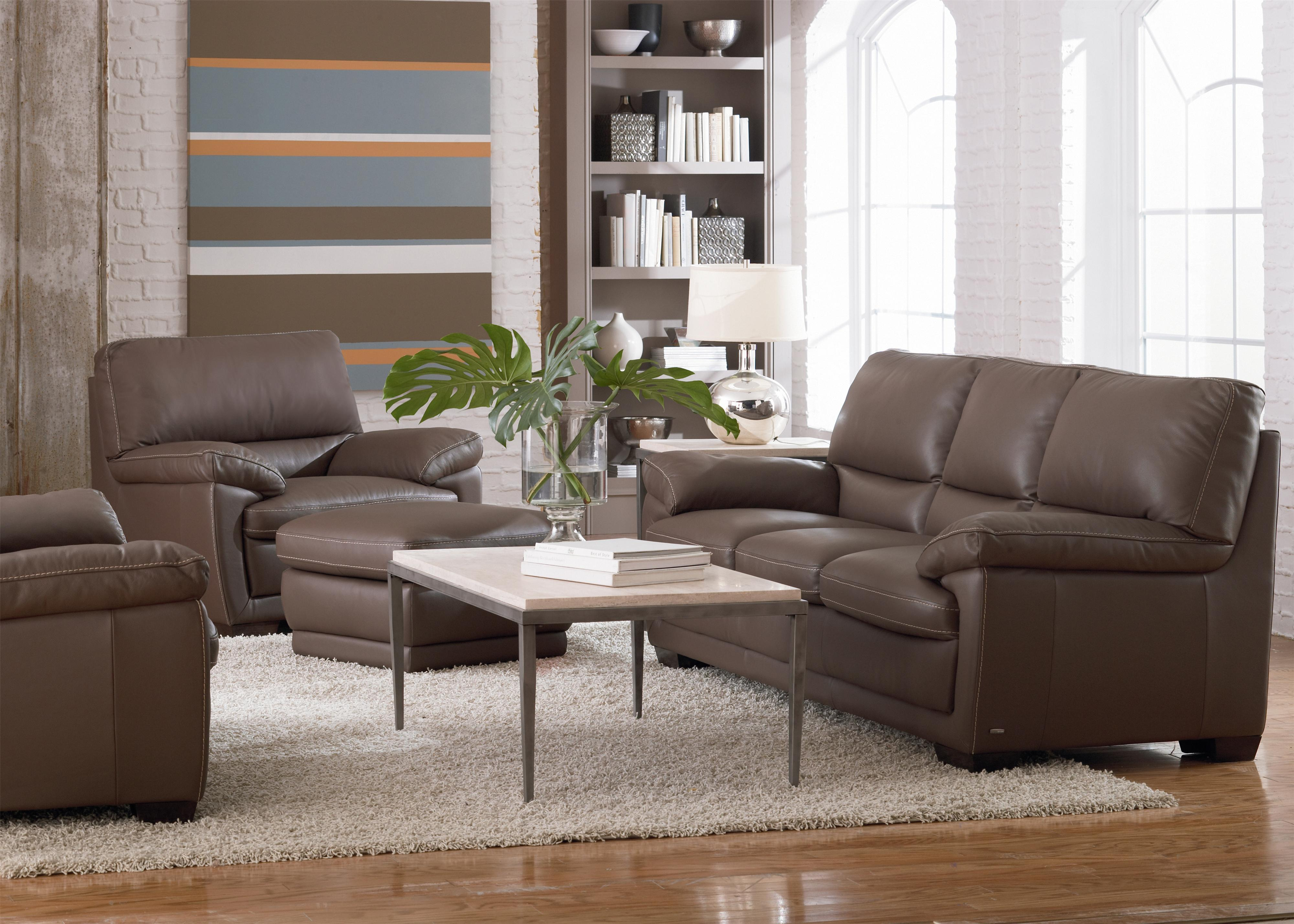 B674 Stationary Living Room Group by Natuzzi Editions at Wilson's Furniture