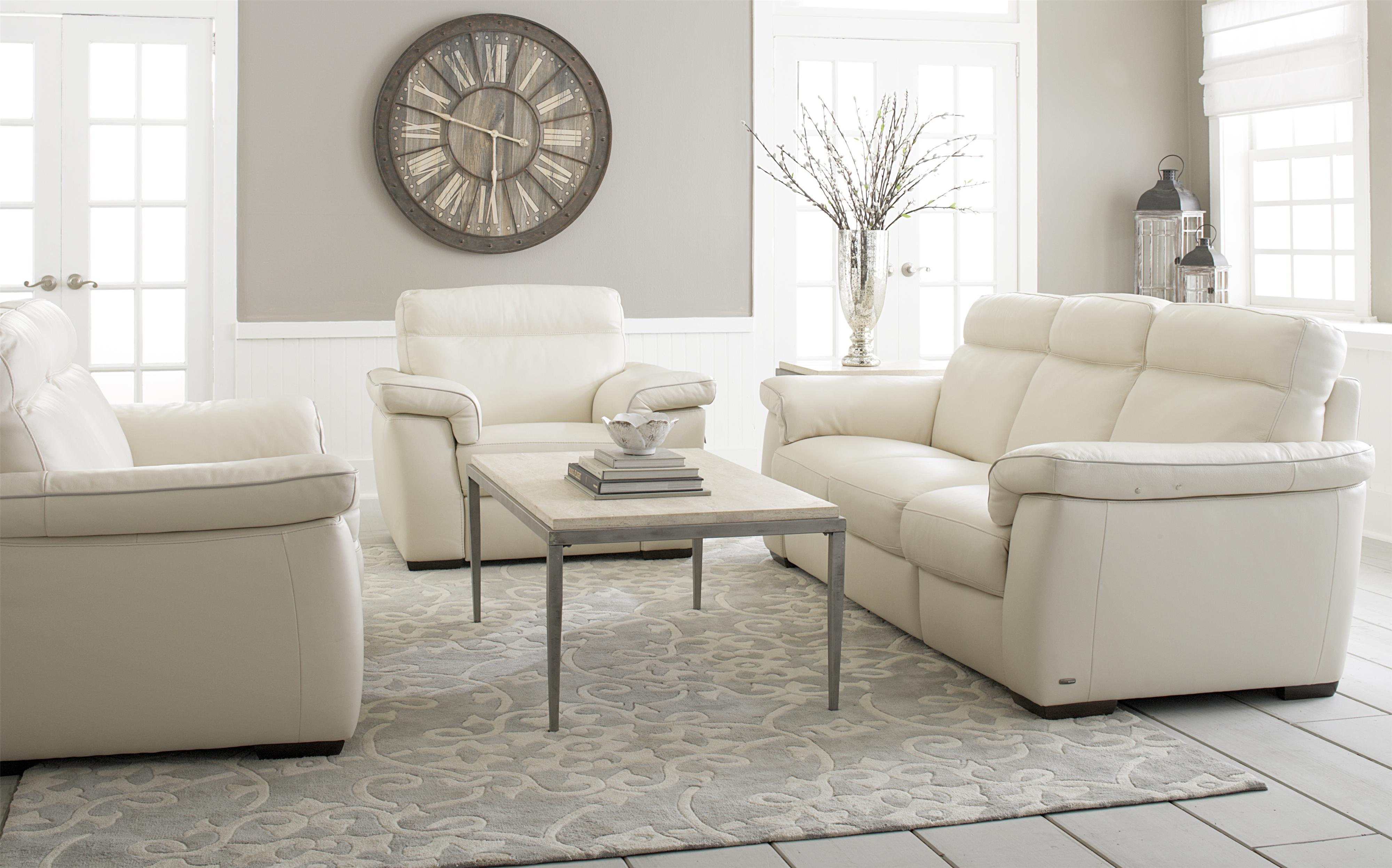 B757 Stationary Living Room Group by Natuzzi Editions at Williams & Kay