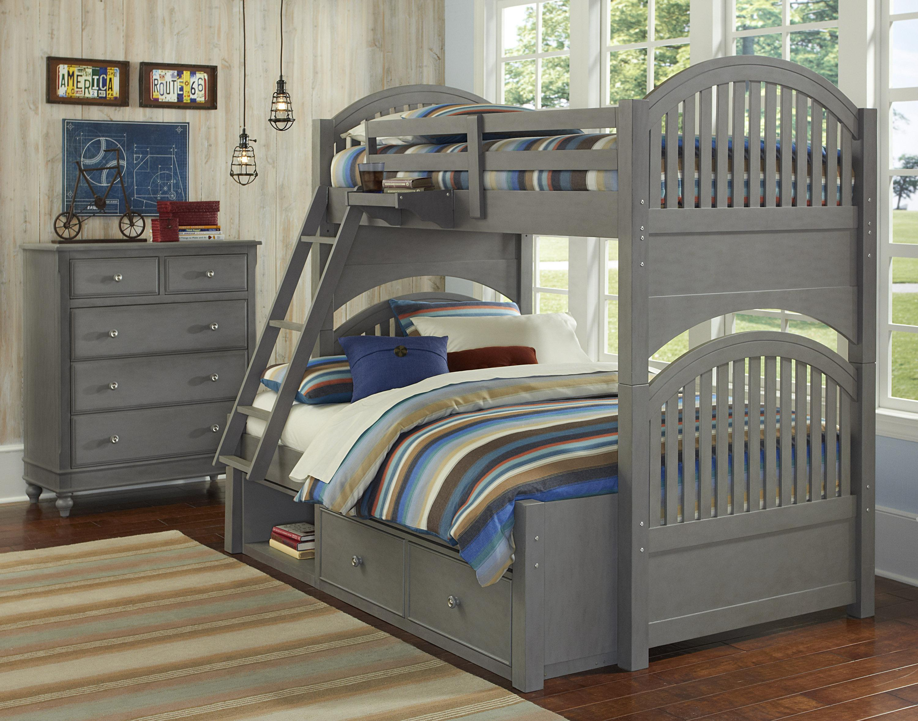 Lake House Twin Over Full Storage Bunk Bed  by NE Kids at Furniture Barn