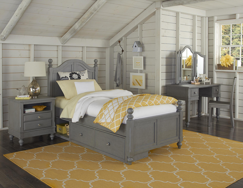 Lake House Full Payton Storage Bed by NE Kids at Furniture Barn