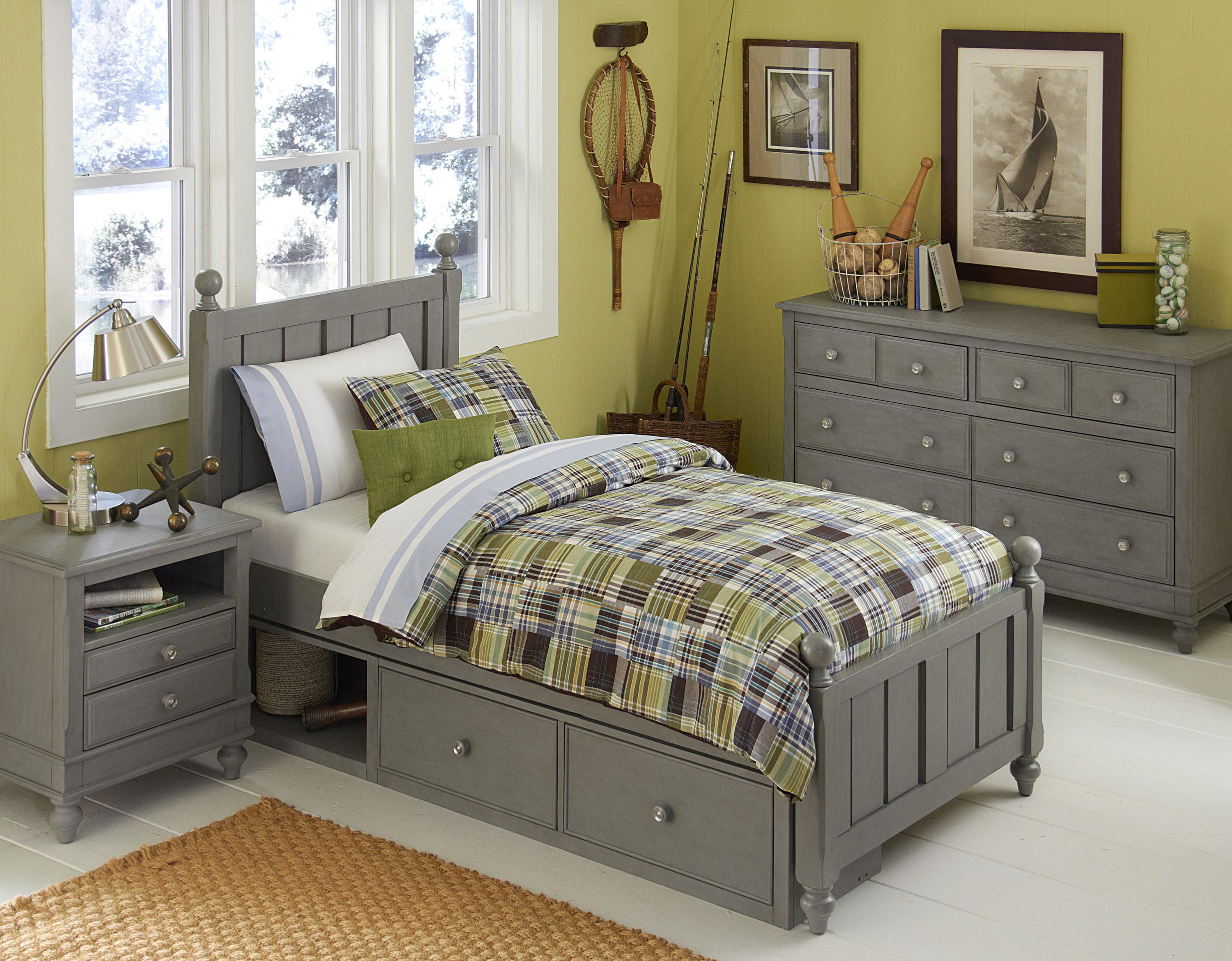 Lake House Twin Kennedy Storage Bed by NE Kids at Dunk & Bright Furniture