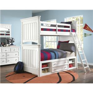 Samuel Lawrence SummerTime Youth Twin Over Twin Bunk Bedroom Group