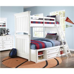 Samuel Lawrence SummerTime Youth Twin Over Full Bunk Bedroom Group