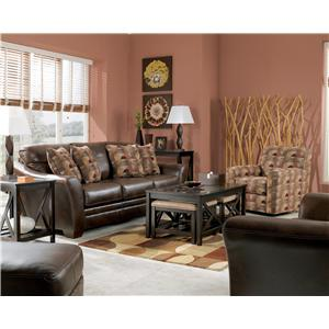 Signature Design by Ashley Furniture Del Rio DuraBlend - Sedona Stationary Living Room Group