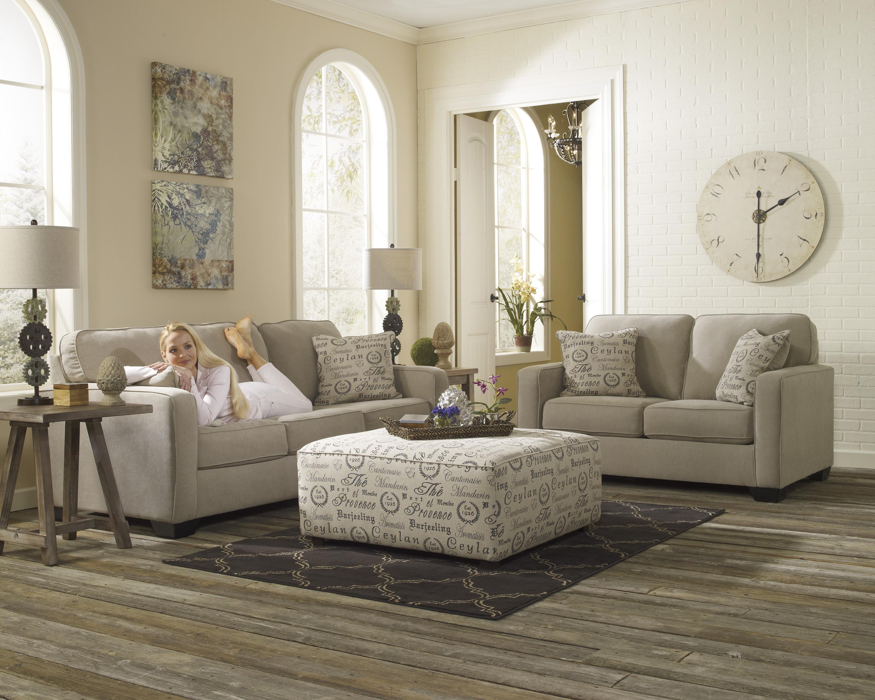 Alenya - Quartz Stationary Living Room Group by Signature Design by Ashley at Carolina Direct
