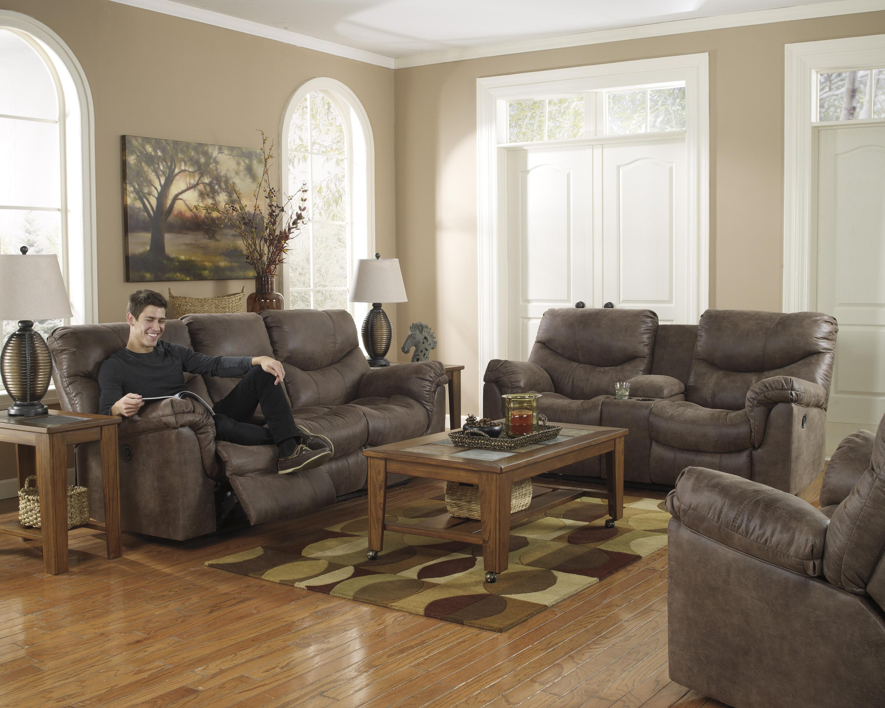 Alzena - Gunsmoke Reclining Living Room Group by Signature Design by Ashley at Catalog Outlet