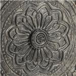 Floral Carving in Antique Gray Finish