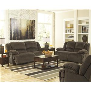 Signature Design by Ashley Toletta - Chocolate Reclining Living Room Group