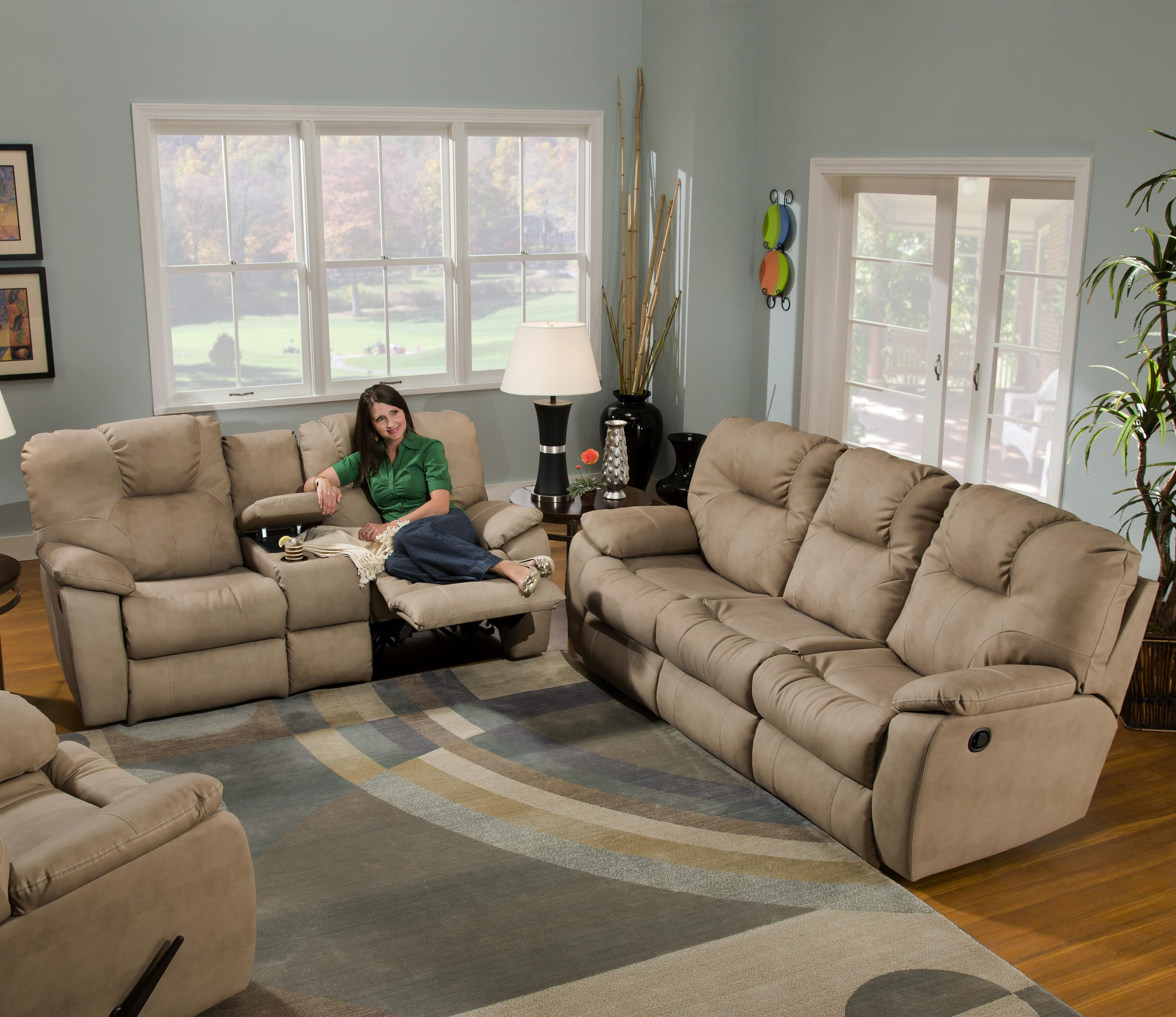 Avalon Reclining Living Room Group by Southern Motion at Rooms and Rest