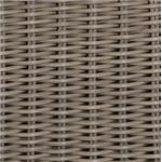 Hand-Woven Wicker Resin with Weathered Finish