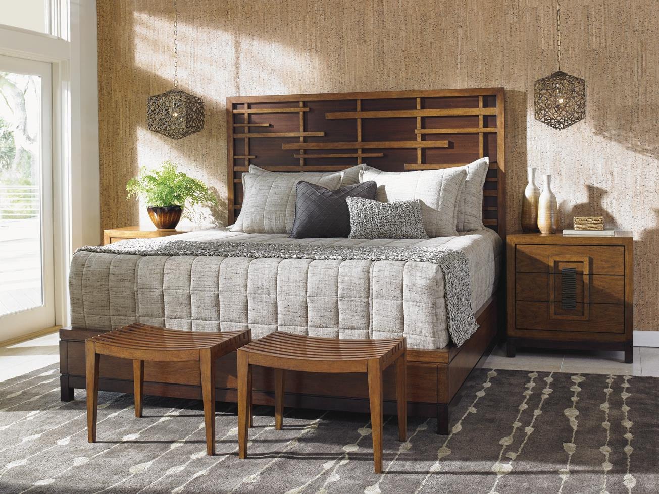 Island Fusion Queen Bedroom Group by Tommy Bahama Home at Baer's Furniture