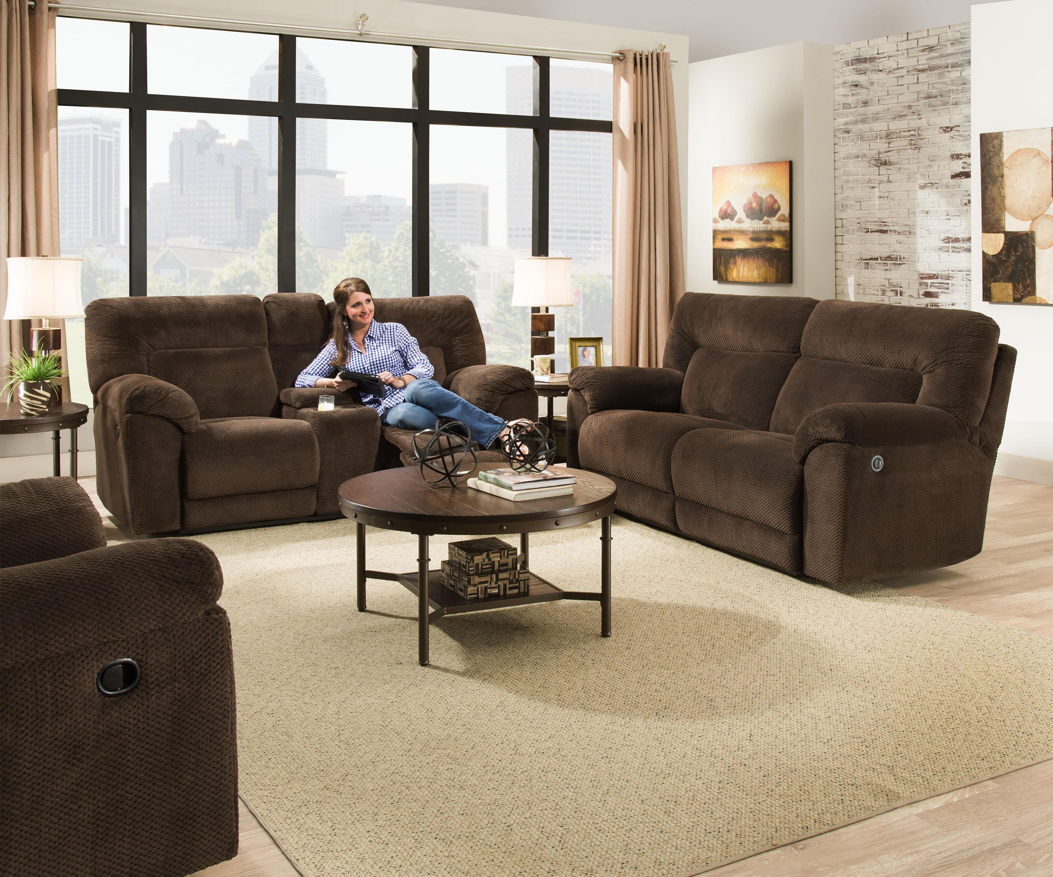 50570 Reclining Living Room Group by United Furniture Industries at Dream Home Interiors
