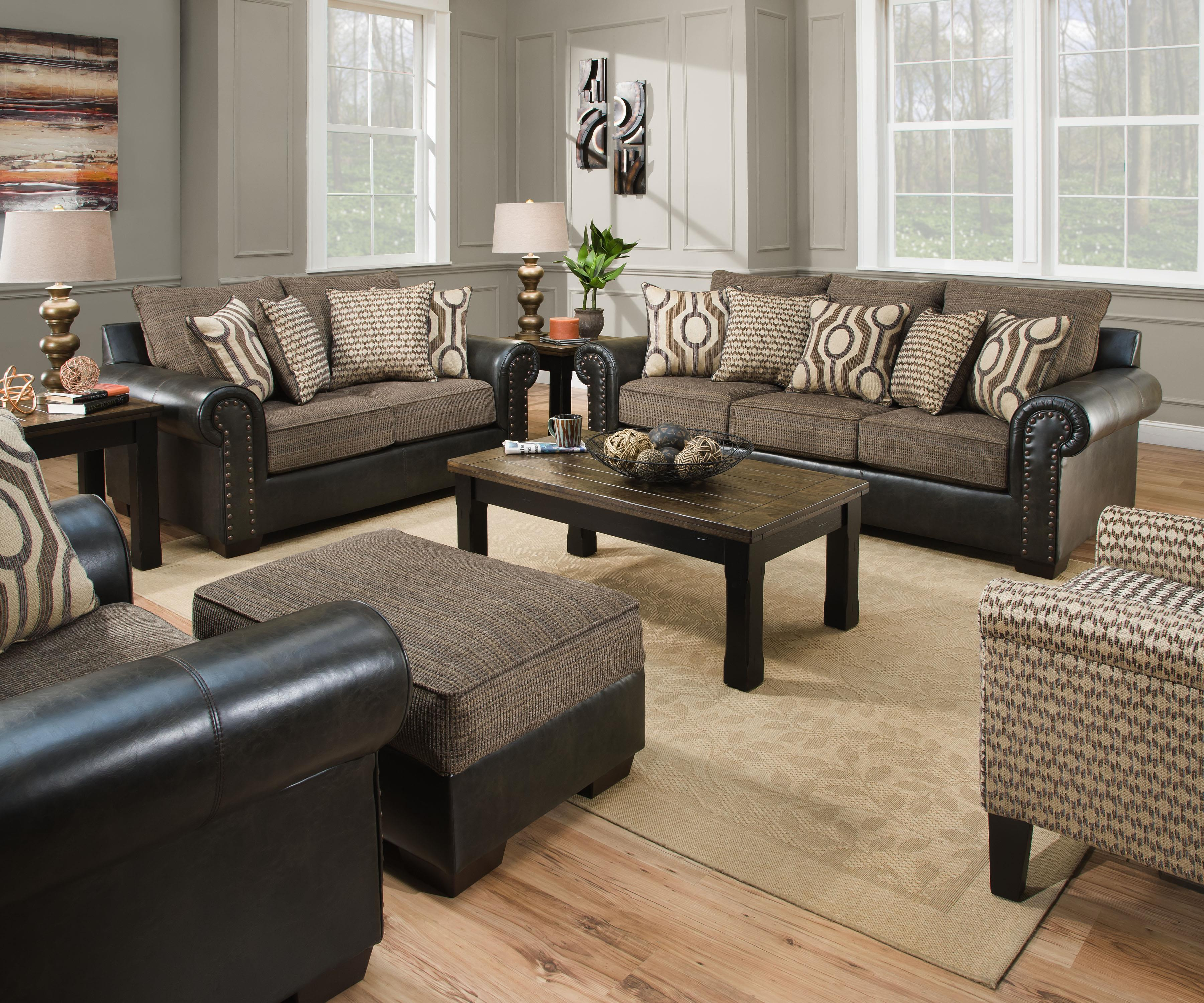7591 Stationary Living Room Group by United Furniture Industries at Bullard Furniture