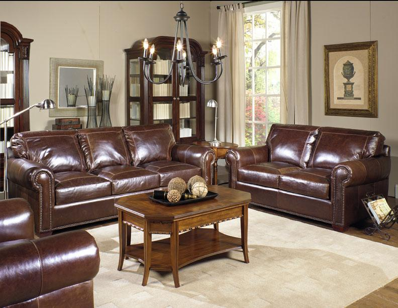 4955 Stationary Living Room Group by USA Premium Leather at Wilson's Furniture