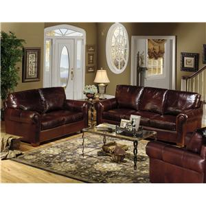 USA Premium Leather 8855 TELLURIDE Stationary Living Room Group