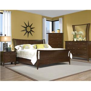 Vaughan Furniture Stanford Heights Queen Sleigh Bedroom Group