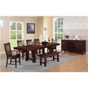 Winners Only Retreat Formal Dining Room Group
