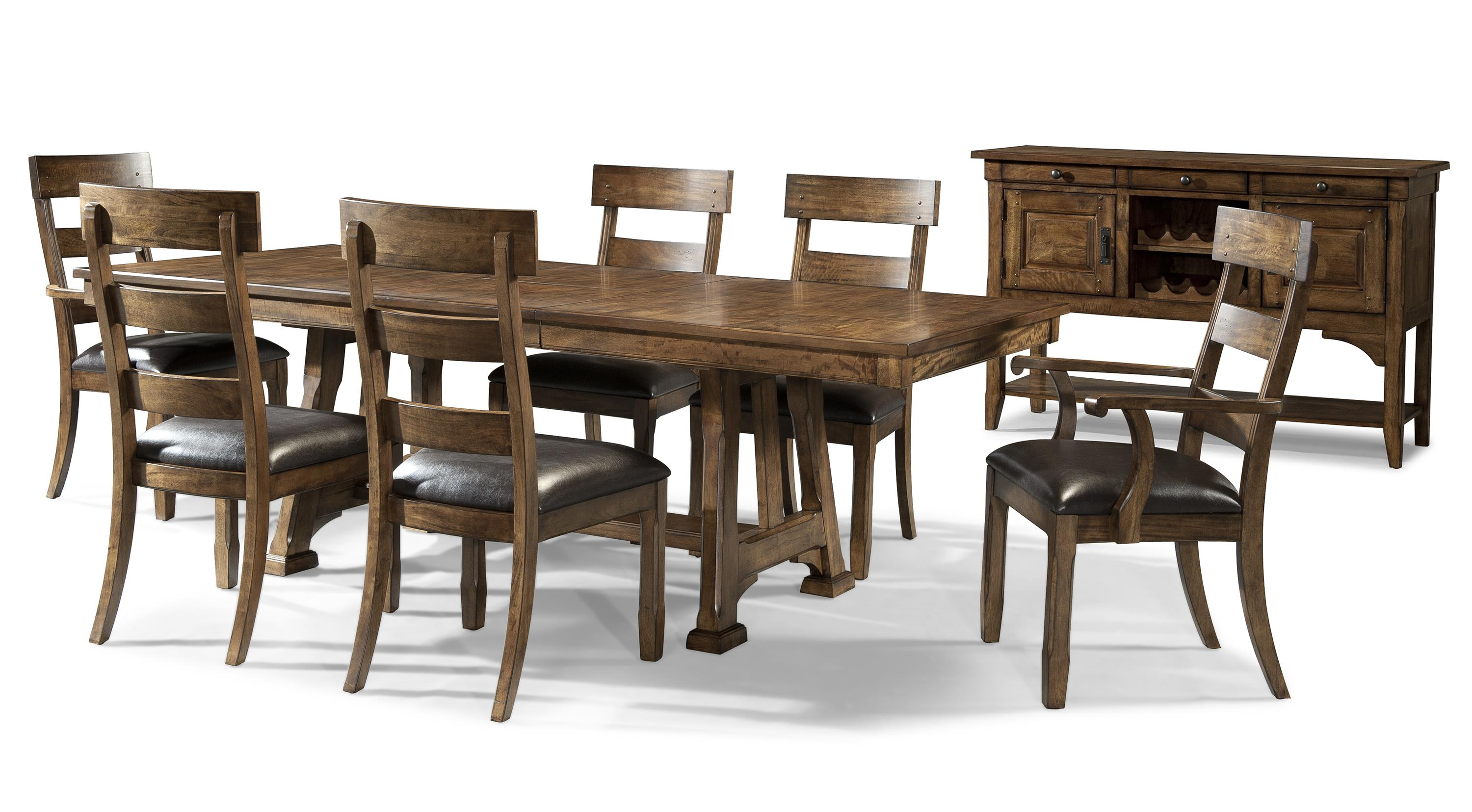 Ozark casual dining room group by aamerica wolf furniture for Casual dining room furniture