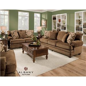 Albany 8645 Traditional Stationary Sofa with Oversize