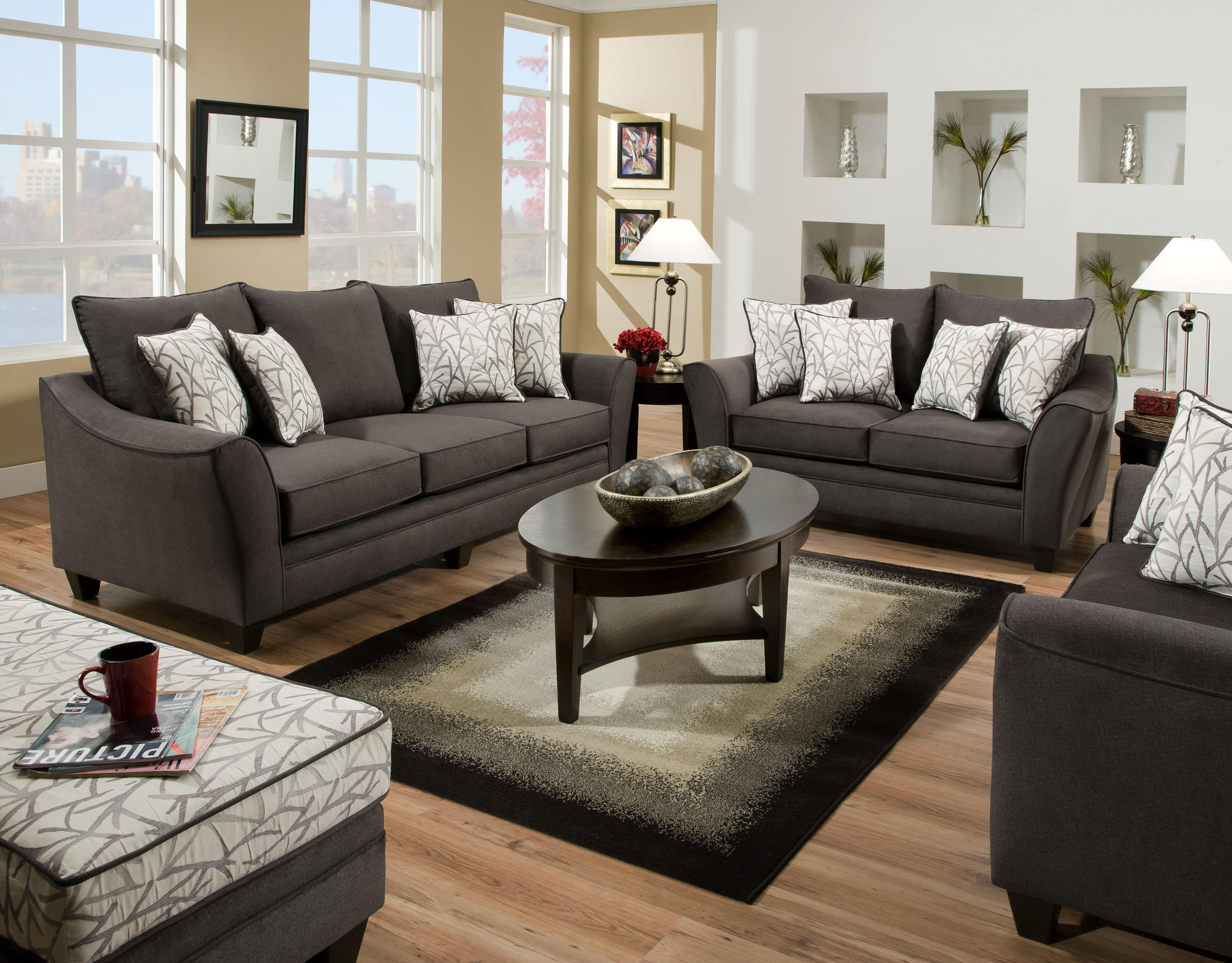 American Furniture 3850 Stationary Living Room Group Royal Furniture Stationary Living Room