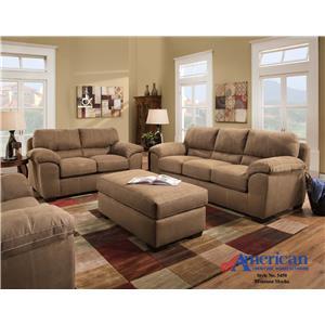 American Furniture 5450 Casual Sofa Miskelly Furniture Sofa