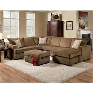 American Furniture 6800 Sectional Sofa With Right Side Chaise Prime Brother