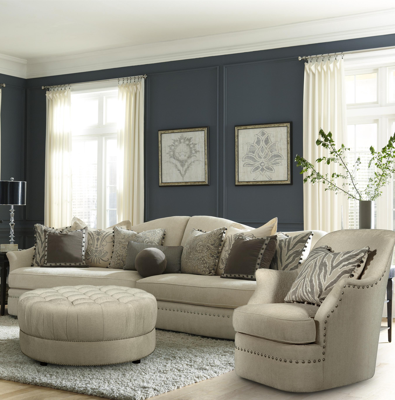 a r t furniture inc cotswold amanda ivory stationary living room group olinde 39 s furniture. Black Bedroom Furniture Sets. Home Design Ideas