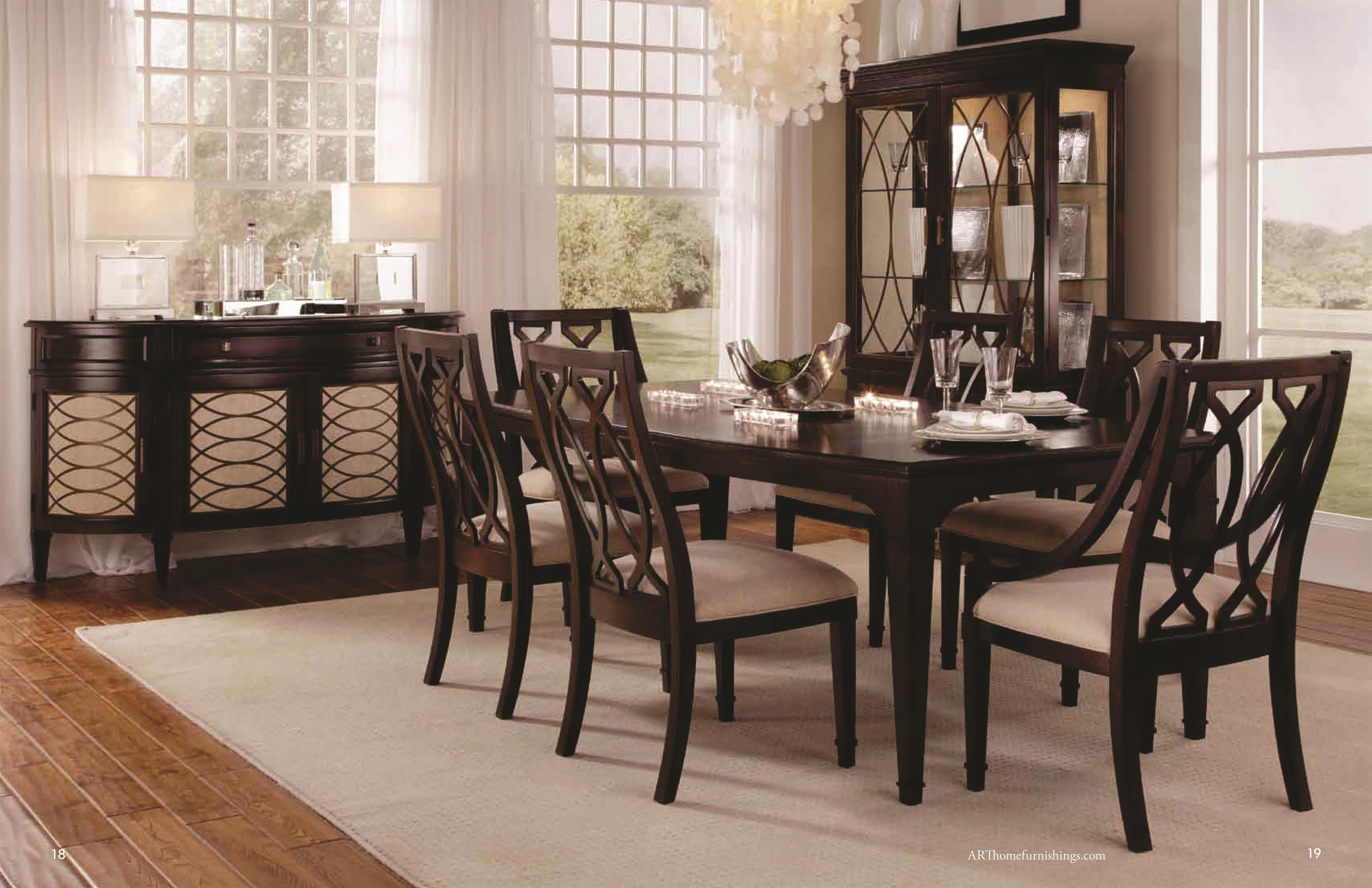 A R T Furniture Inc Intrigue Formal Dining Room Group