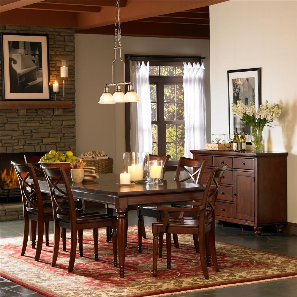 Aspenhome cambridge formal dining room group dunk for Pictures of formal dining rooms