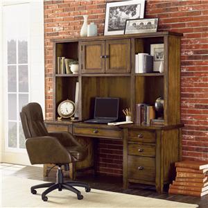Aspenhome Cross Country L Shaped Desk Hutch Walker 39 S Furniture L Shape Desk Spokane
