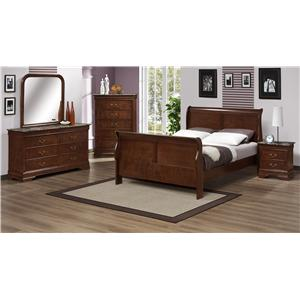 Austin Group Marseille 2 Drawer Night Stand With Faux Marble Top Standard Furniture Night