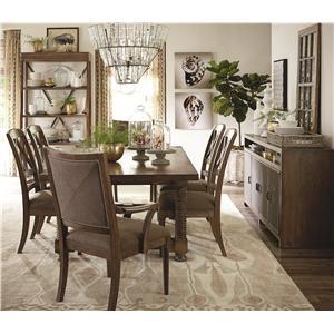 bassett compass side table fashion furniture end table fresno madera. Black Bedroom Furniture Sets. Home Design Ideas
