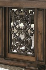 Bernhardt montebella 2 door curio with decorative overlay - Decorative metal grilles for cabinets ...