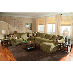 Broyhill Furniture Veronica Chaise Sectional With Sleeper Mueller Furniture Sofa Sectional