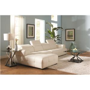 Coaster Darby Contemporary Sectional Sofa With Wide Arms