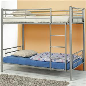 Coaster denley metal twin over full bunk bed standard furniture bunk beds birmingham for Bedroom furniture huntsville al