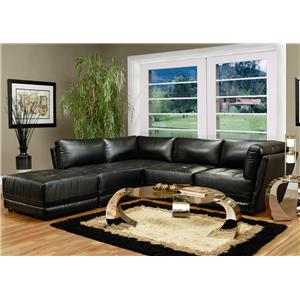 Coaster Kayson Contemporary Leather Sectional Sofa