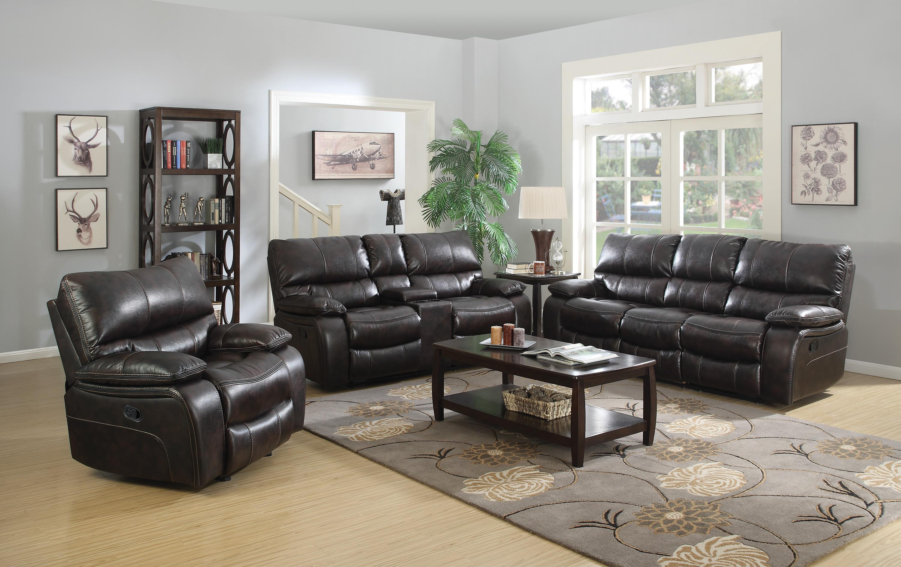 Coaster willemse reclining living room group value city for Living room furniture groups