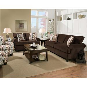 Corinthian 47A0 Contemporary Living Room Sleeper Sofa
