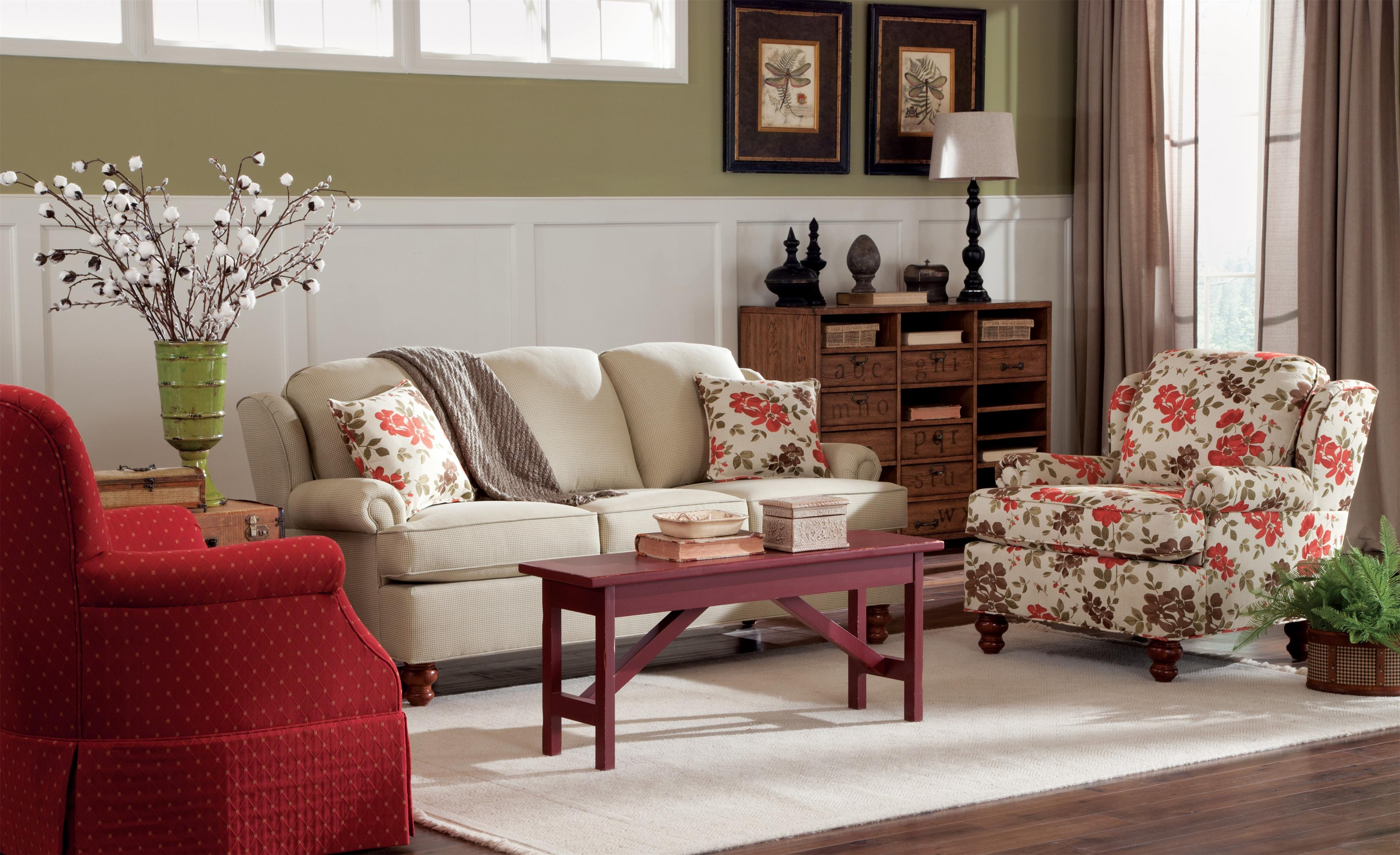 Craftmaster 7402 Stationary Living Room Group Belfort Furniture Upholstery Group