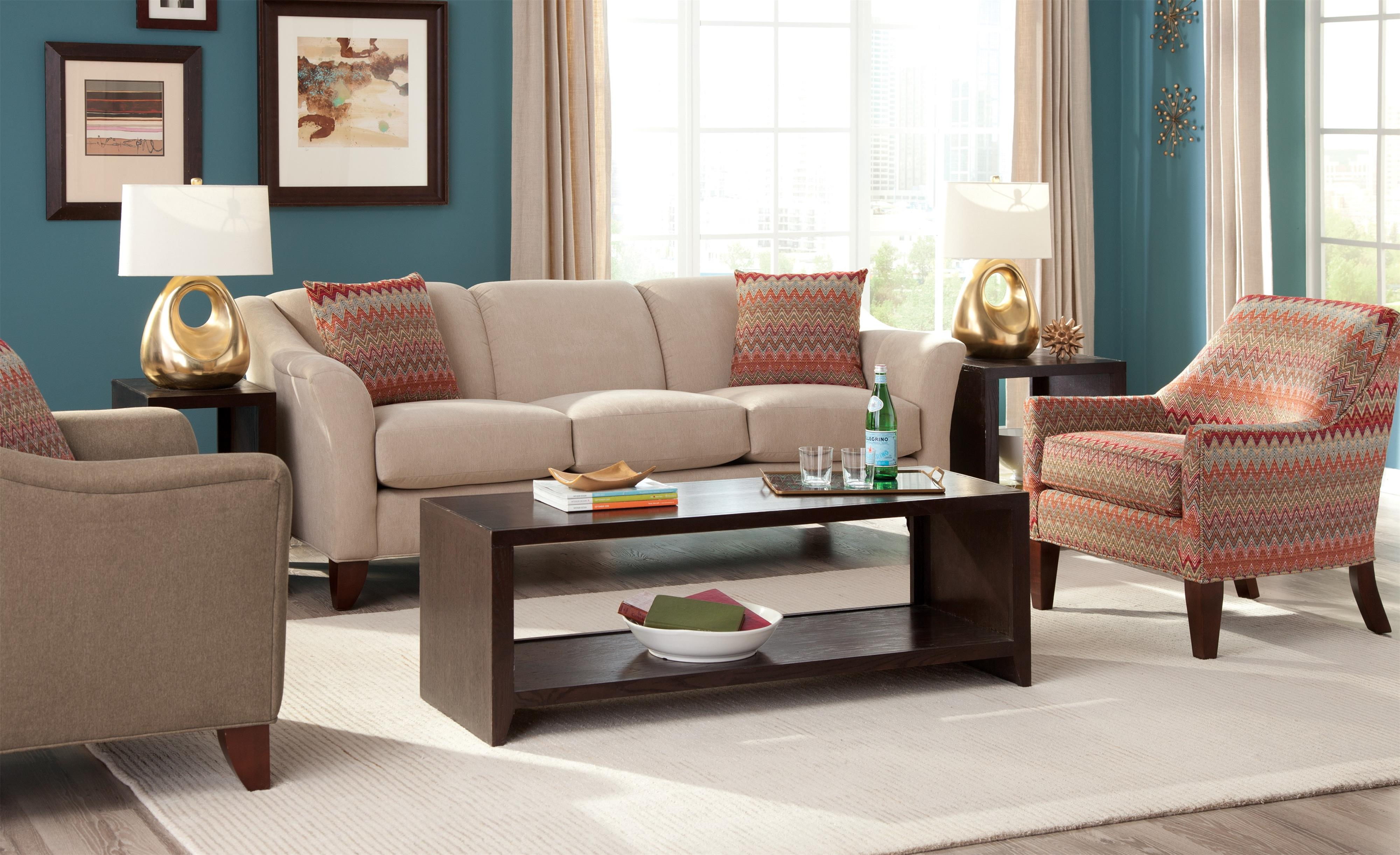 Craftmaster 7844 stationary living room group zak 39 s fine for Living room furniture groups