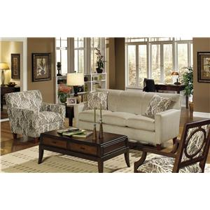 Craftmaster 7864 Contemporary Sofa with Chaise Bullard