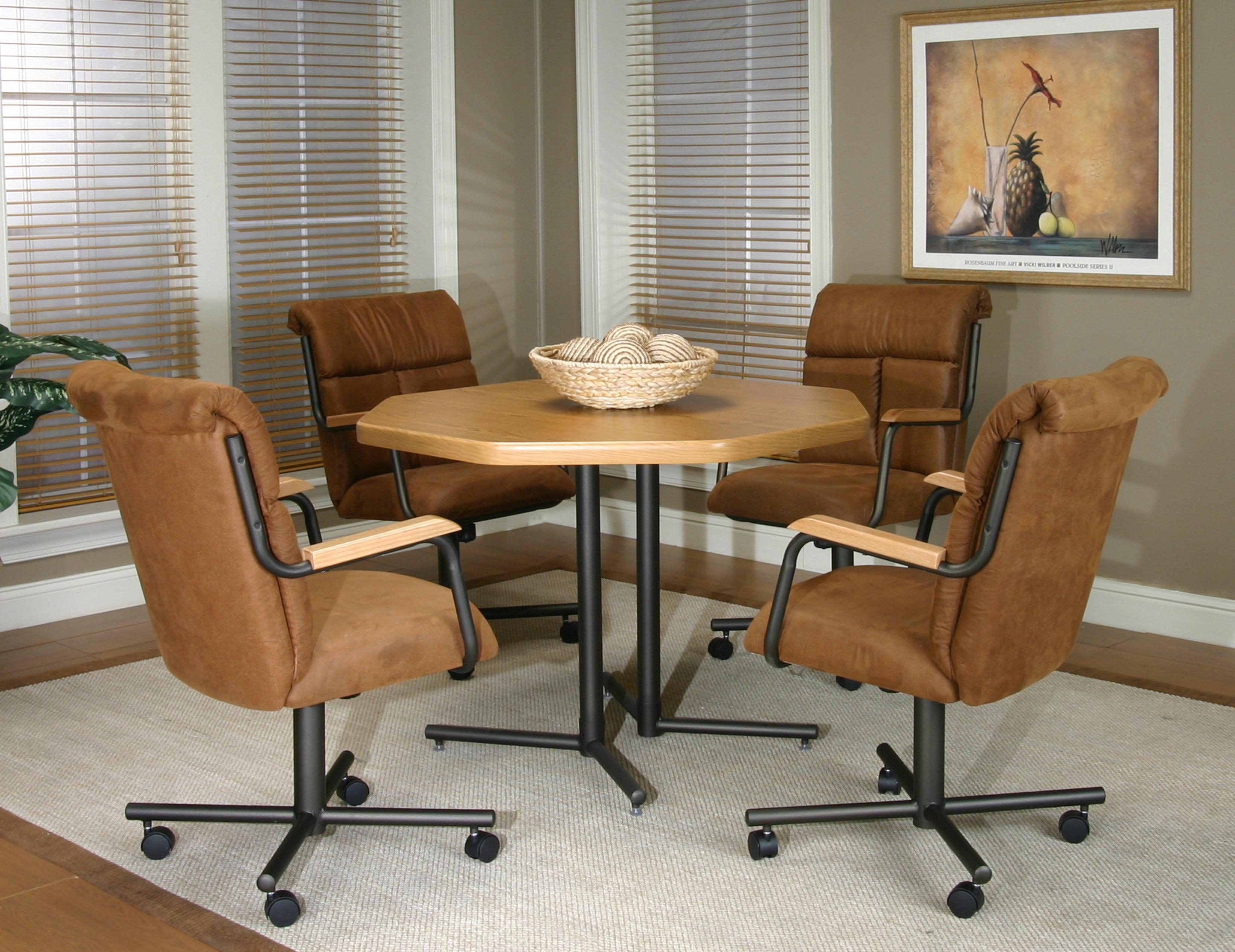 Swivel dining chairs foter vintage 50s dining room swivel for Swivel chair dining sets