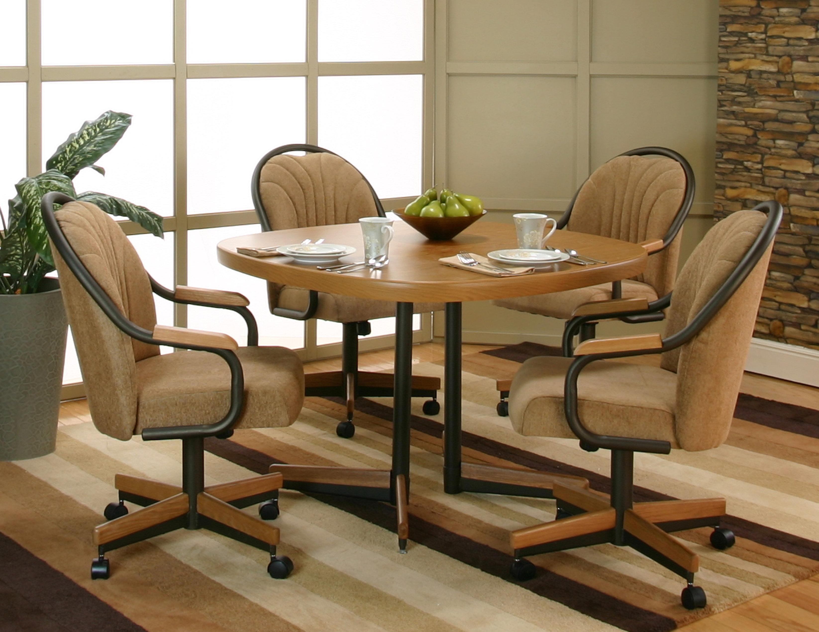 Caster Chairs Bernhardt Wynn Chair Cramco Inc Shaw Espresso Harvest Chenille Upholstered Dining Arm Room