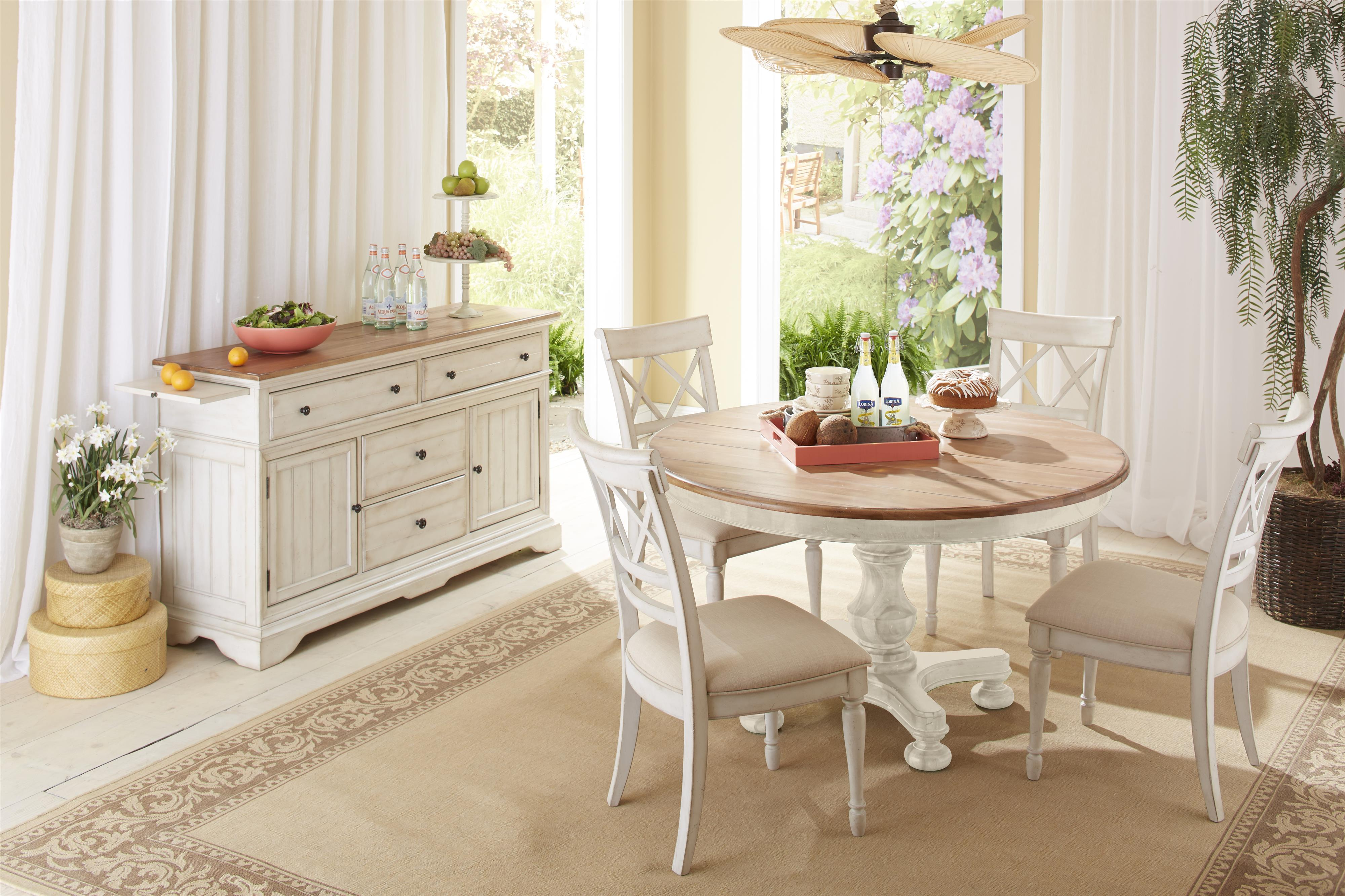 Cresent fine furniture cottage casual dining room group for Cottage furniture