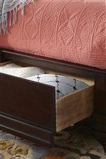 Cresent Fine Furniture Newport Queen Sleigh Bed W Storage