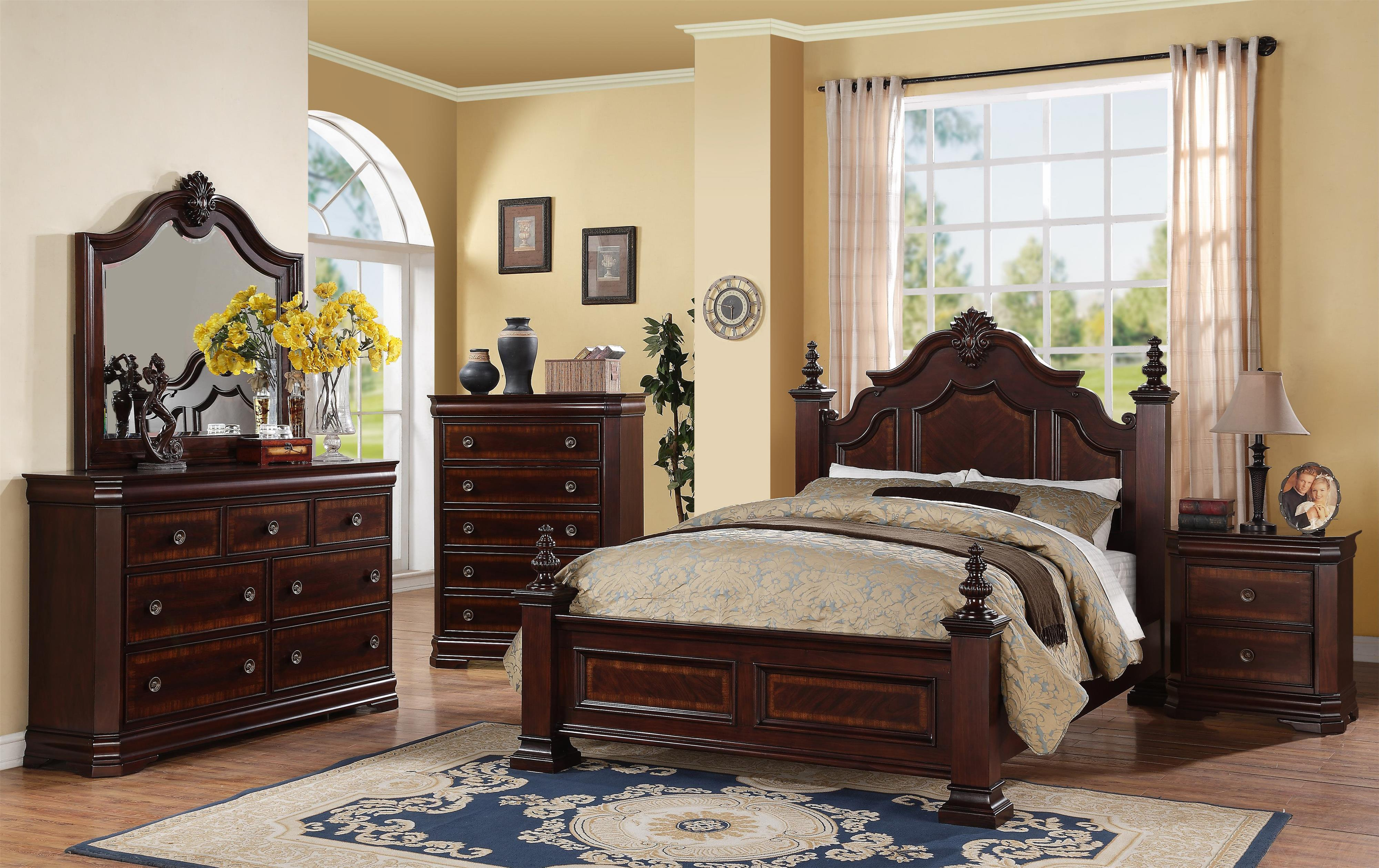 Crown Mark Charlotte Queen Bedroom Group Royal Furniture Bedroom Group